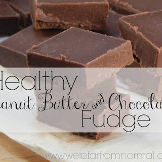 Healthy Peanut Butter Chocolate Fudge.
