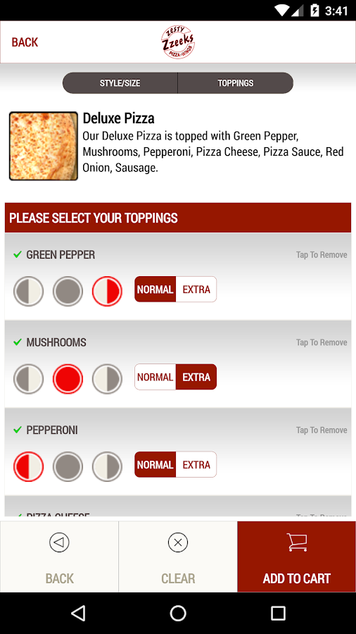 Zzeeks Pizza- screenshot