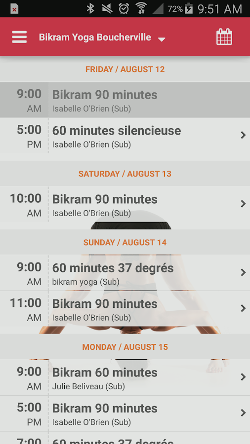 Bikram Yoga Boucherville- screenshot