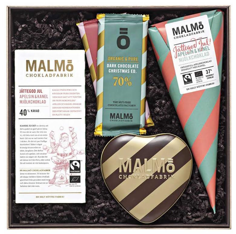 Stora jullådan 2020 - Jättegod jul, kärlek, lingon, blåbär och choklad - Malmö Chokladfabrik