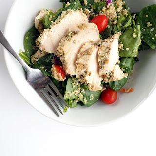 Lemon Roasted Chicken Spinach Quinoa