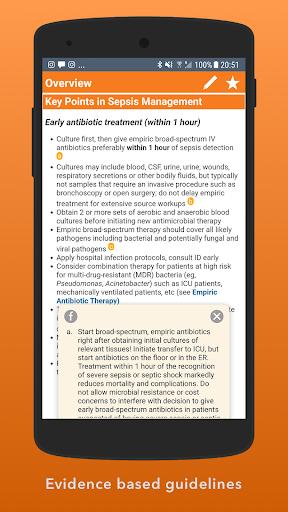 Sepsis Clinical Guide screenshots 2