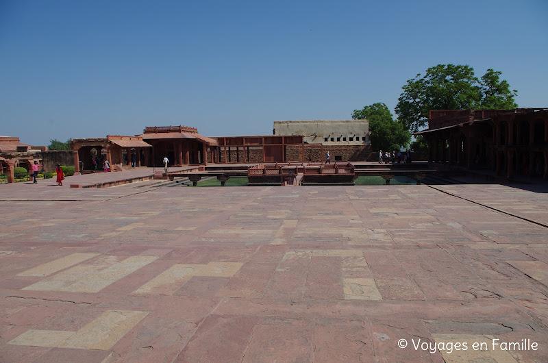 Bassin ornement Fatehpur sikri