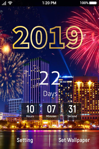 New Year Count Down 2019 & New Year Live Wallpaper 1.1 screenshots 2