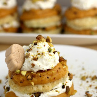 Pumpkin Pistachio Napoleon with White Chocolate Ganache