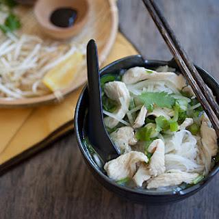 Vietnamese Chicken Pho Noodle Soup