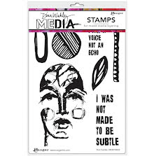 Dina Wakley Media Cling Stamps 6X9 - Not Subtle