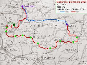 Photo: Mapa cesty