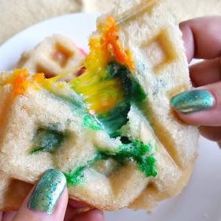 Rainbow Grilled Cheese Waffleich.