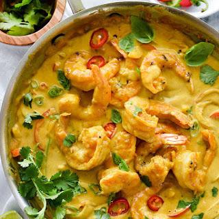 Shrimp In Thai Coconut Sauce.