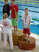 Photo: Międzynarodowe Zawody Pływackie w Brześciu (Białoruś) - Krzyżaniak K. Ic - brązowy medal 200m dowolnym