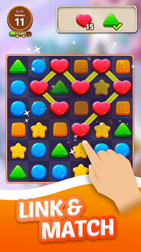 Cookie Crunch: Link Match Puzzle  screenshots 3