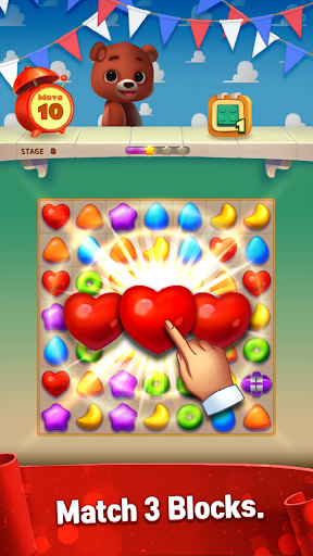 Toy Bear Sweet POP : Match 3 Puzzle apkpoly screenshots 11