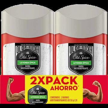Desodorante Old Spice Leyenda Épica Barra 50 g 2 Unidades