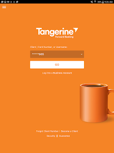 Tangerine Banking- screenshot thumbnail