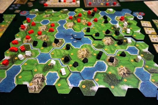 クランズ・オブ・カレドニア:ゲーム終盤の様子