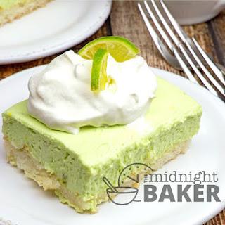 Creamy Lime Macaroon Bars