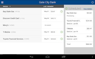 Screenshot of Gate City Bank