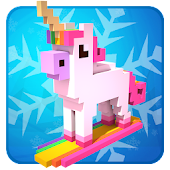 Snow storm Snowboard - downhill games for kids