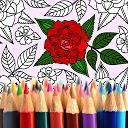 Красящие взрослые: Цветы