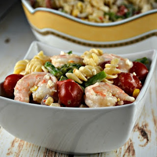 The Best Shrimp Pasta Salad.
