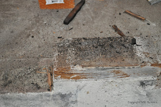 Photo: Picture # 3 showing 6x6 girder post base that was never nailed.