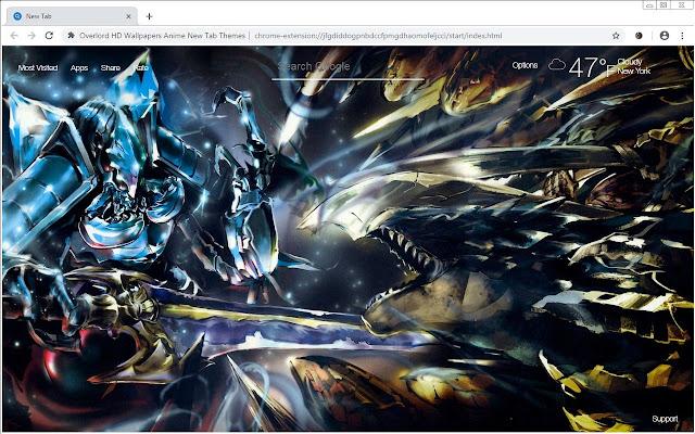 Overlord Wallpaper Anime Newtab Freeaddon Com