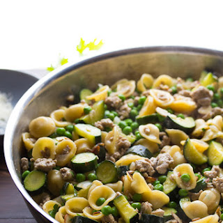 One Pan Orecchiette with Ground Turkey and Zucchini Recipe