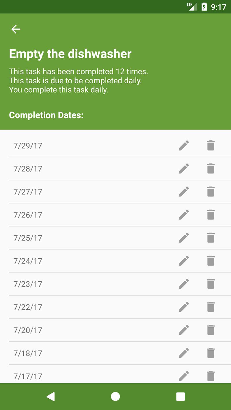 Clean My House – Chore To Do List, Task Scheduler Screenshot 4