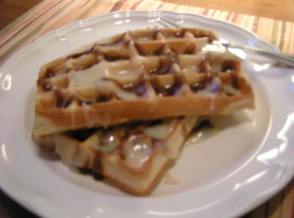 Orange Cinnamon Roll Waffles - Dee Dee's Recipe