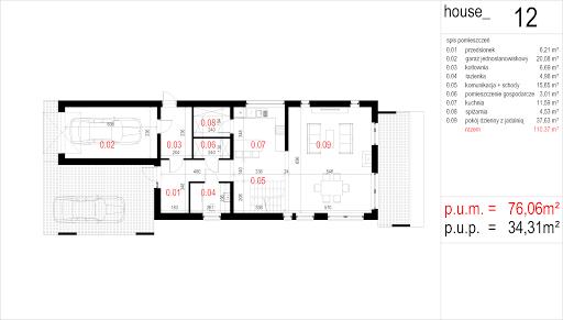 House 12 - Rzut parteru