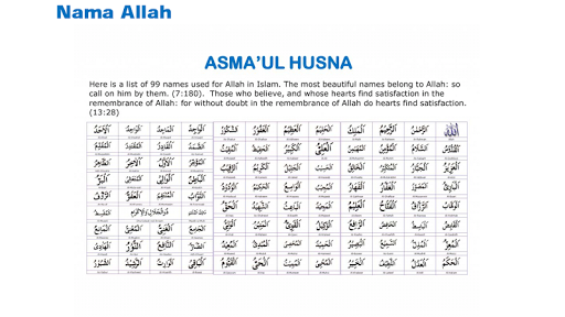 Download Koleksi Asma' Ul Husna {MP3} Google Play softwares