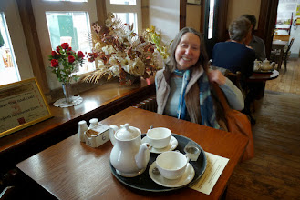 Photo: Vonny in the Breif encounter Tea rooms at Carnforth Station