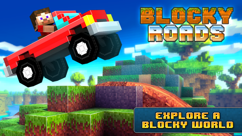 Blocky Roads v1.3.1 [Mod Money/Unlocked]