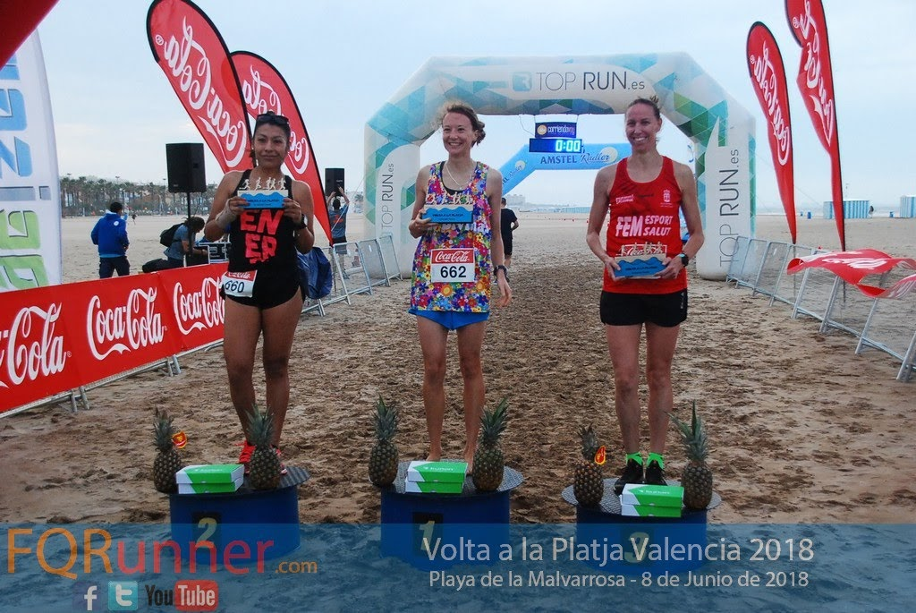 entrega de los trofeos Volta a la Platja de València 2018