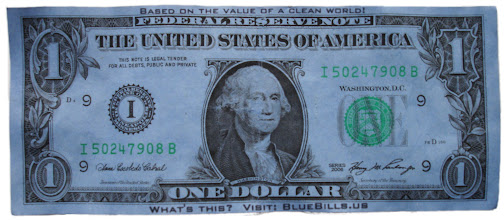 Photo: Blue Bill $1, large file
