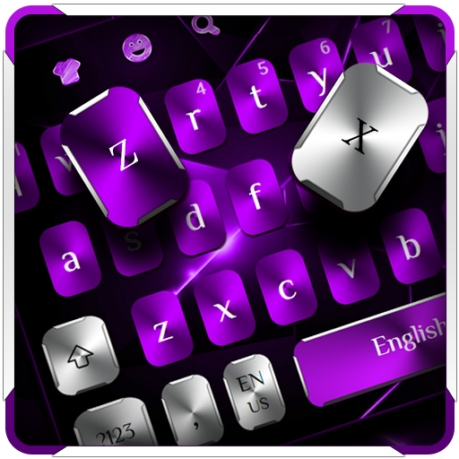 Purple Metal Keyboard