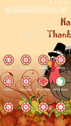 android Thanksgiving Day APUS theme Screenshot 0