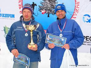 Photo: Первые чемпионы России по рогейну на лыжах   Олег Калинин и Андрей Шведов