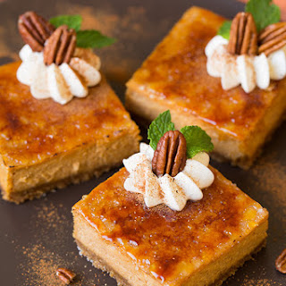 Pumpkin Brulee Cheesecake Bars