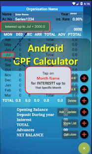 GPF Calculator - náhled