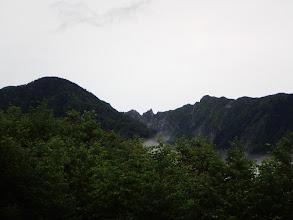 牙岩が見える(右が木曽前岳)