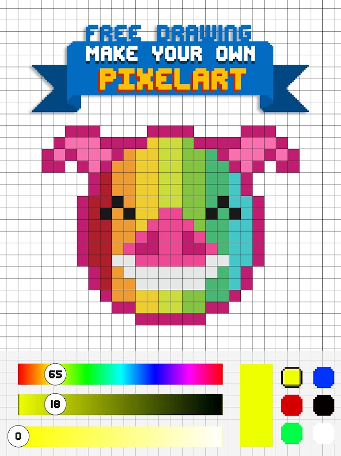 Pixel Art Pig: Color By Number Pixel Art Coloring - Android Apps ...