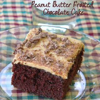 Peanut Butter Frosted Chocolate Cake.
