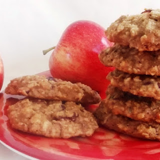 Vegan Apple Drop Cookies.