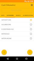 Screenshot of Costs per kilometer