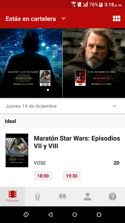 Yelmo Cines App- screenshot