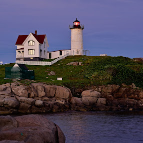 The Nubble Lighthouse by Joe Fazio - Buildings & Architecture Public & Historical