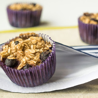 Baked Blueberry Oatmeal Cups