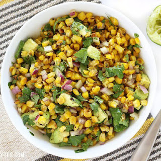 Warm Corn and Avocado Salad.